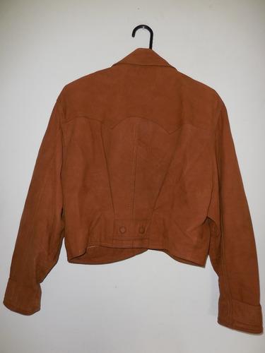 excelente chaqueta de cuero de dama talla m