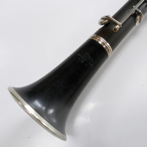 excelente clarinete de hard-rubber (ebonite) conn - usa