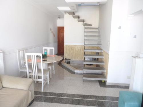 excelente cobertura duplex 3 dormitórios - pitangueiras - guarujá - co0100
