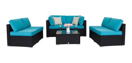 excelente conjunto de sofá rattam al aire libre envio gratis