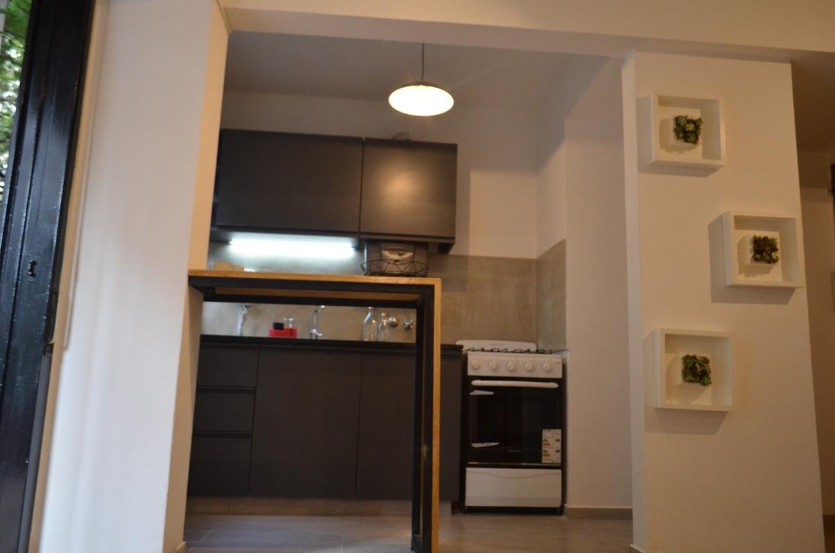 excelente departamento a la venta monoambiente c/balcon a metros de bv oroño - remodelacion de diseño - funcional - posibilidad de permuta