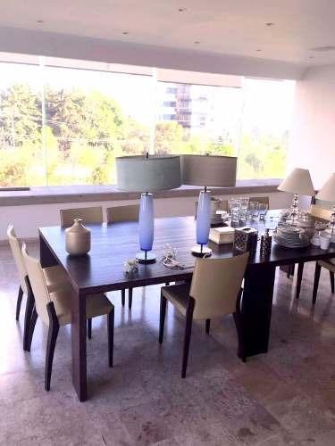 excelente departamento en renta amueblado en residencial la jolla, bosques de las lomas, cuajimalpa méxico d.f.