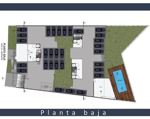 excelente depto 2 ambientes c/balcon y parrilla, coch opcional, financiado en obra