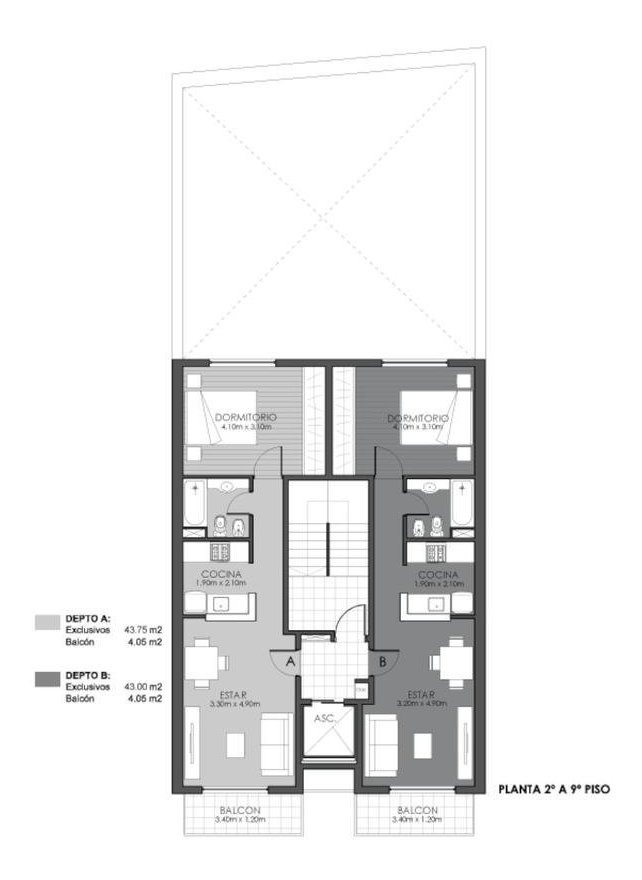 excelente desarrollo - monoambientes y 1 dormitorio