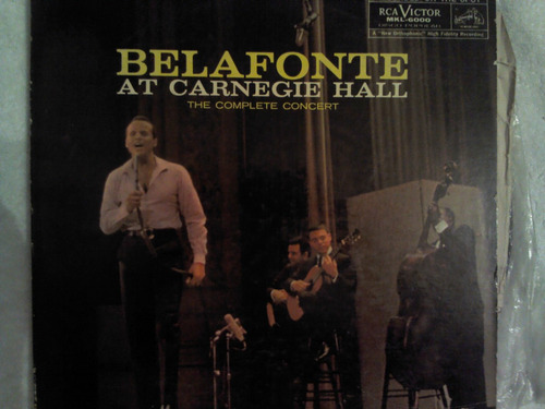 excelente disco acetato de: belafonte at carnegie hall