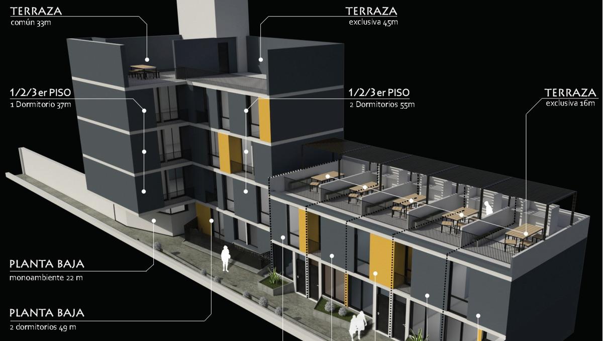 excelente duplex 1 dormitorio de 66 m2. proximo a entregar.