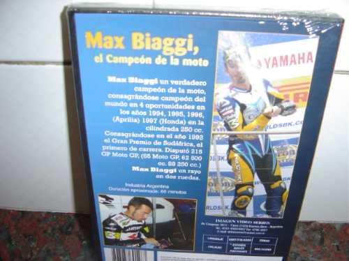 excelente dvd de max biaggi el campeon de la moto para colec