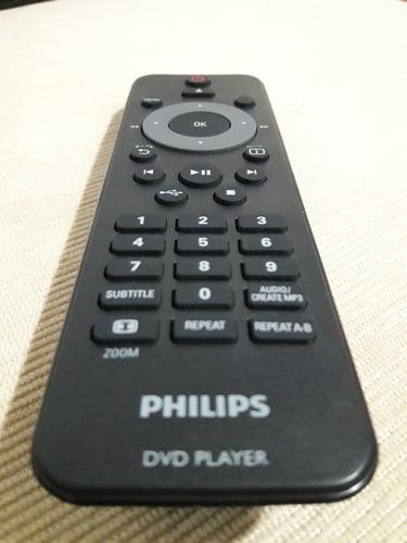 excelente dvd philips - c. remoto - c. rca y alimentación.