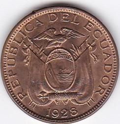 excelente estado! 1 centavo 1928 - ecuador