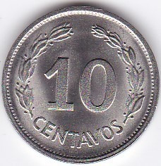 excelente estado bu! 10 centavos 1972 - ecuador