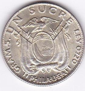 excelente estado! un sucre 1934 phila - ecuador