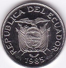 excelente estado unc! 50 centavos 1985 - ecuador