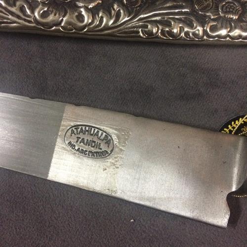 excelente facon  cuchillo verijero atahualpa en alpaca 1970