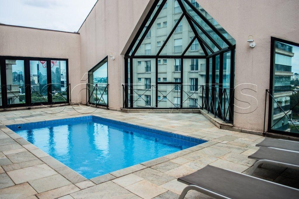 excelente flat fora do pool no itaim bibi para morar ou investir .. metropolitan hall. - sf26536