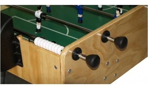 excelente futbolito en madera terciada-jugadores en metal.