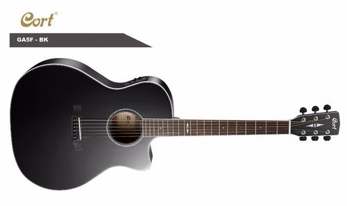 excelente guitarra cort ga5f bk equalizador fishman
