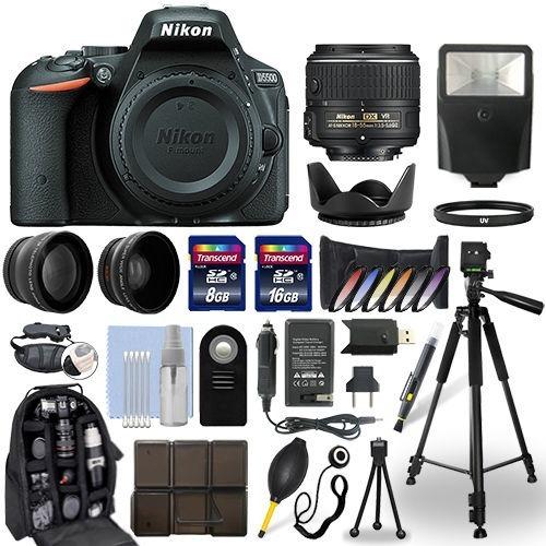 excelente kit nikon d5500 dslr camera + 18-55mm vr