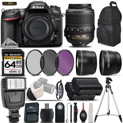 excelente kit nikon d7200 dslr cámara wi-fi / nfc 24.2