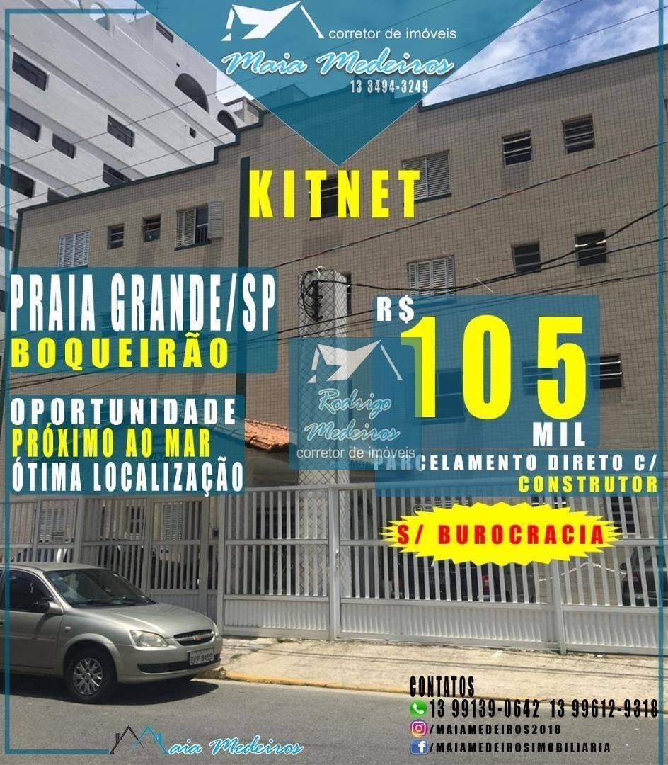 excelente kitnet em praia grande r$60.000,00 chaves na mão - kn0057
