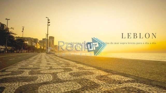 excelente lançamento na quadra da praia do leblon com varanda e  vista mar  em rua tranquila - 18527