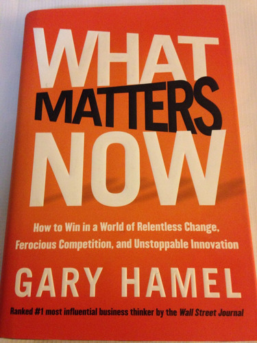 excelente libro what matters now!! gary hamel! 18l