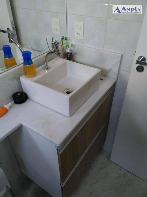 excelente localização, apartamento com 3 dormitórios, 1 suíte à venda, 83 m² por r$ 690.000 - tatuapé - são paulo/sp - ap1166