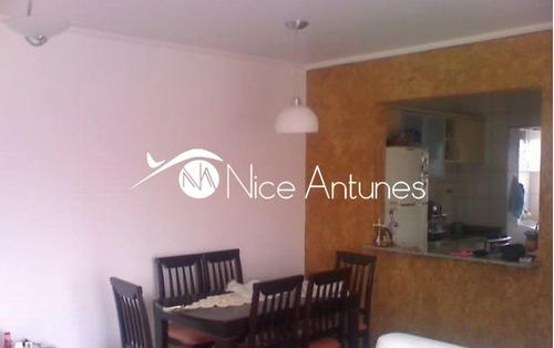 excelente localização. cozinha planejada, sala 02 ambientes com sacada - na4845