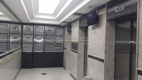 excelente localização, prédio de gabarito, sala comercial com 30 m², portaria 24 hs. - gisl00080