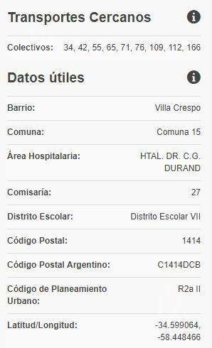excelente lote 8,66 x 49,89 - villa crespo