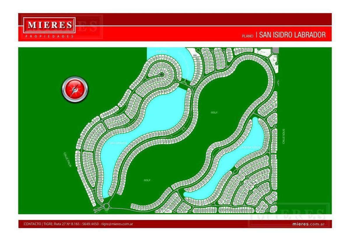 excelente lote a la laguna grande ubicado en el barrio cerrado san isidro labrador!!