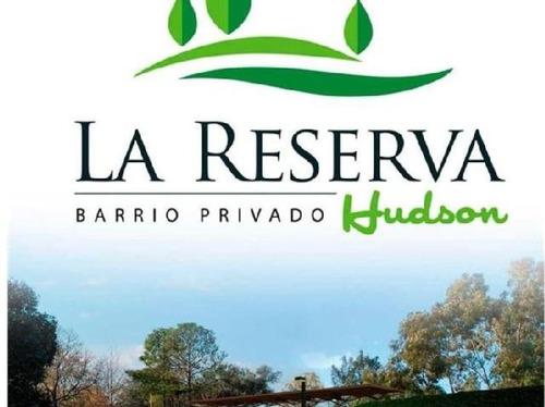 excelente lote barrio la reserva- hudson-financiado