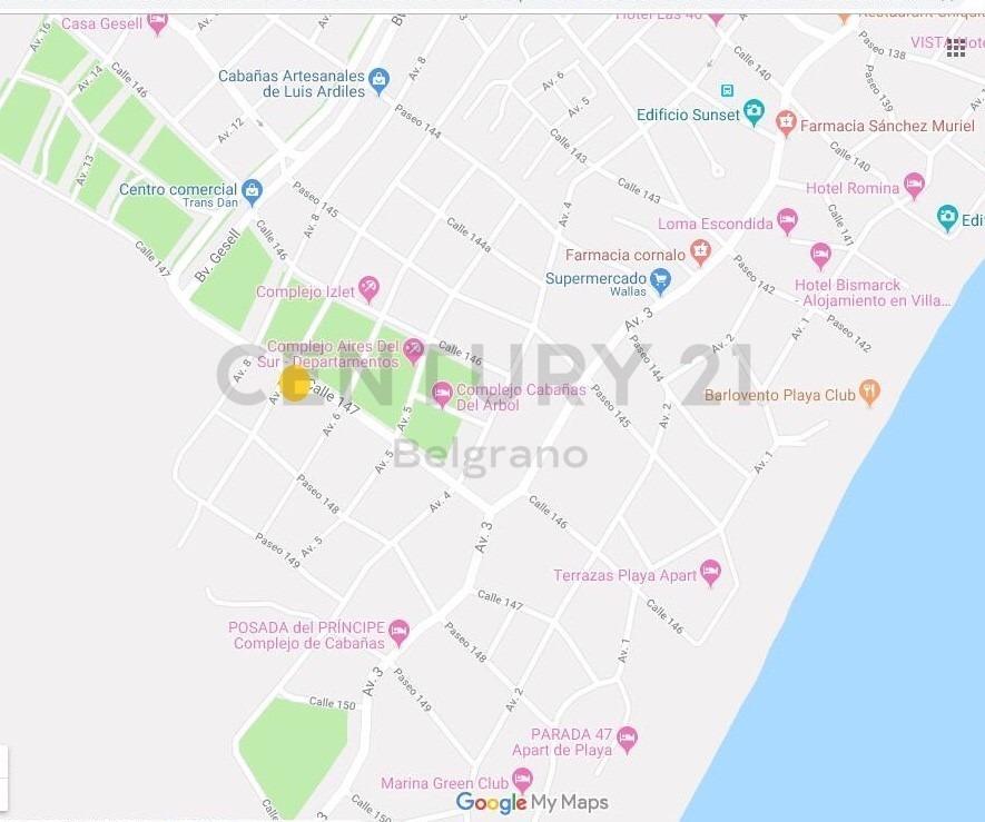 excelente lote en esquina a 7 cuadras del mar en av.7 y 147 - villa gesell