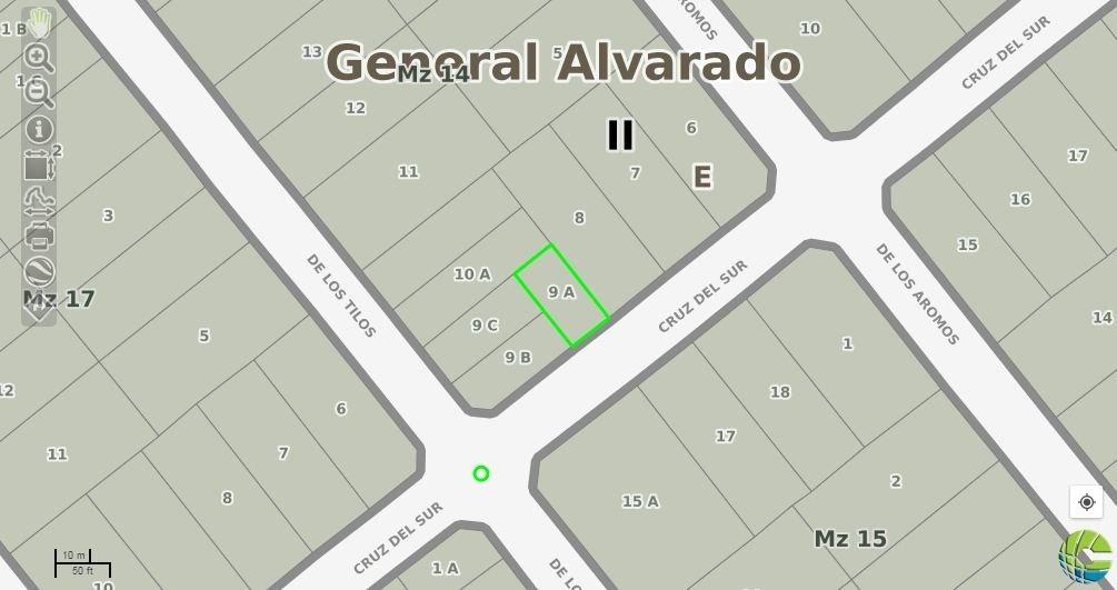 excelente lote en venta en barrio parquemar 200m2