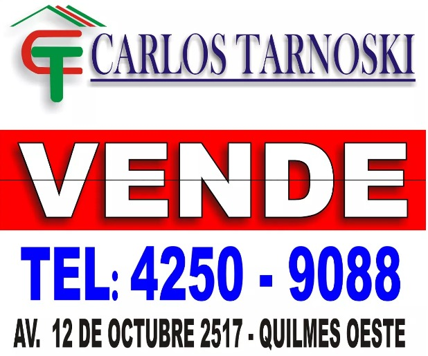excelente lote. quilmes oeste
