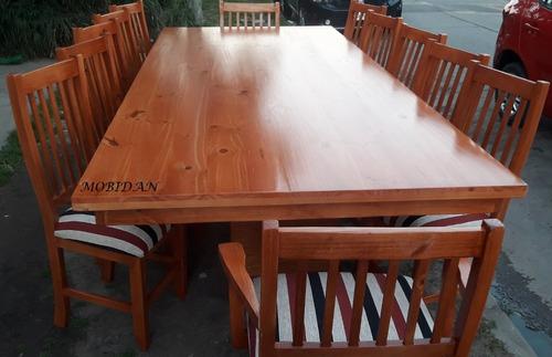 excelente mesa quincho modelo king !!! 10 sillas 2 sillones