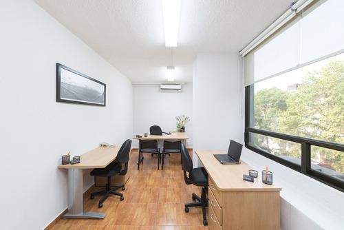 excelente oficina amueblada en hipódromo condesa para 2 personas.