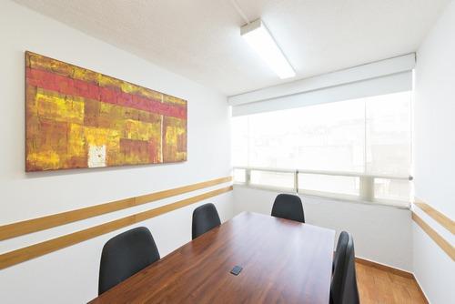 excelente oficina amueblada en hipódromo condesa para 5 - 6 personas.