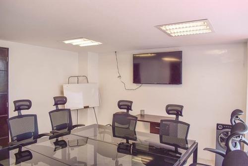 excelente oficina amueblada para 4 personas cerca de monumento a la revolución