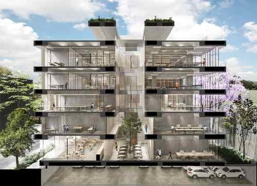 excelente oficina en pre-venta de 70 m2 en roma norte.