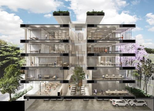 excelente oficina en pre-venta de 99 m2 en roma norte.