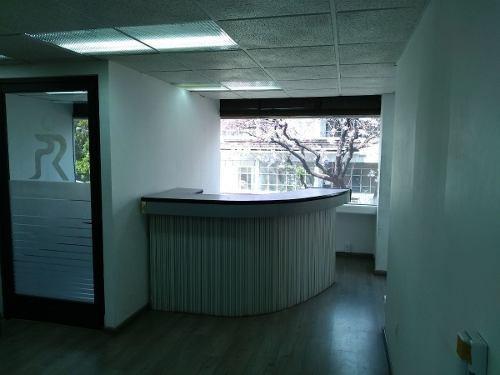 excelente oficina en renta de 217 m2 sobre insurgentes.