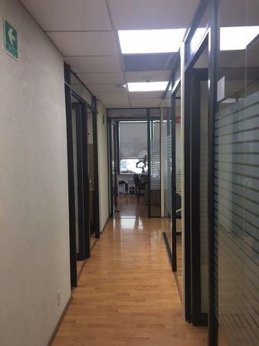 excelente oficina en renta de 320 m2, corredor insurgentes