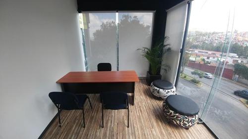 excelente oficina equipada en renta 19 m2 en atizapán