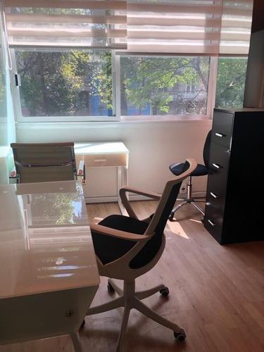 excelente oficina equipada para 12 personas en hipódromo condesa.