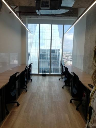 excelente oficina equipada para 12 personas en torre origami.