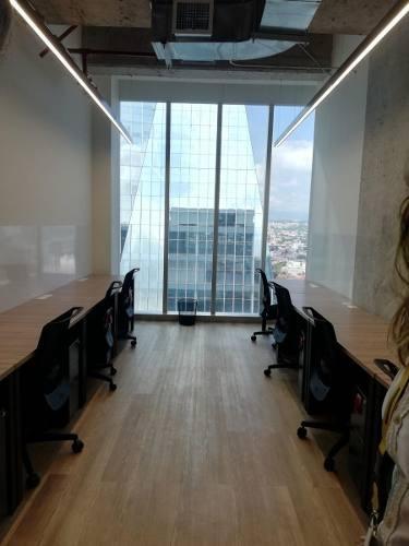 excelente oficina equipada para 4 personas en torre origami.