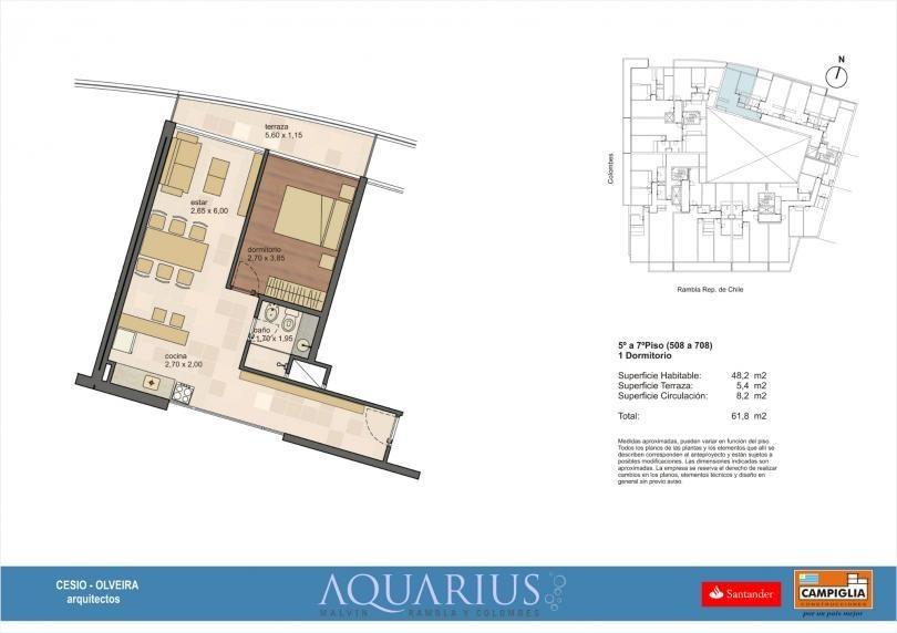excelente oportunidad    apartamento de 1 dormitorio en edificio aquarius