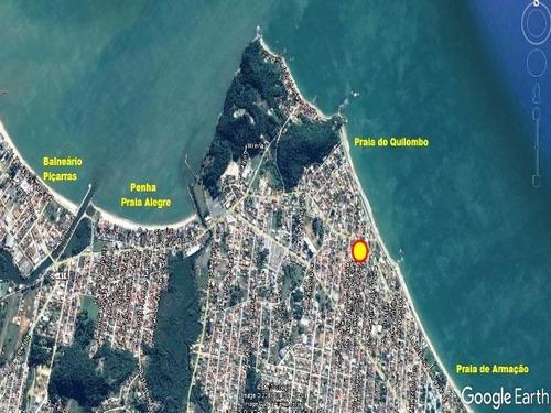 excelente oportunidade - terreno a 150 metros do mar - penha/sc - 550p