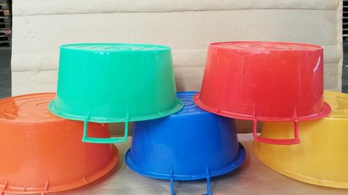 excelente palangana plastica de 12lt varios colores