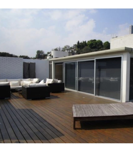 excelente pent house en venta con terraza increible. 2 niveles.